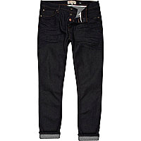 Dark blue raw denim Dylan slim jeans