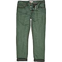 Green denim wash dylan slim jeans