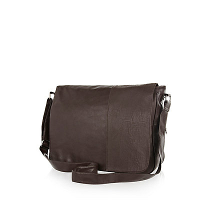 Dark brown flap over bag