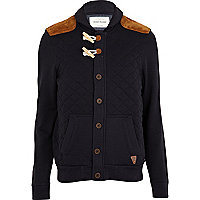 Navy quilted sweater jacket