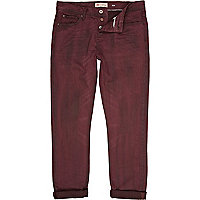 Red denim wash Dylan slim jeans