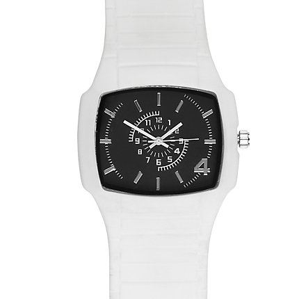 White square watch