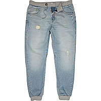 Light wash distressed Ryan jogger jeans