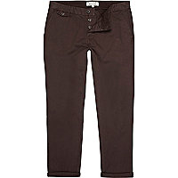 Charcoal grey slim chinos