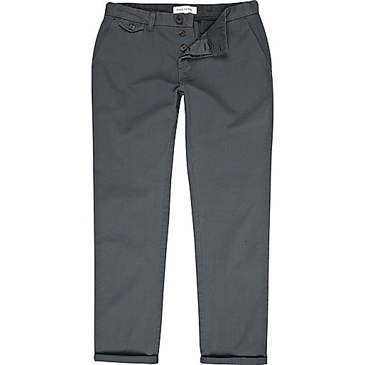 Petrol blue slim chinos