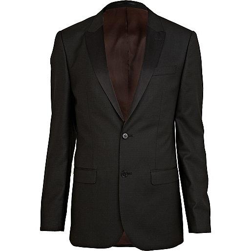 Black tux slim suit jacket