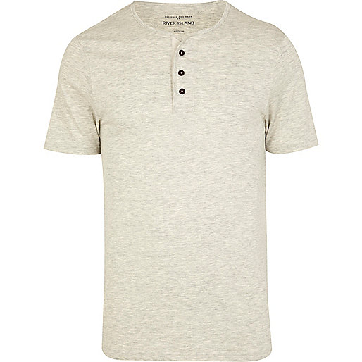 Ecru grandad t-shirt