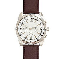Burgundy oversize watch
