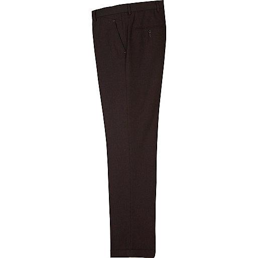 Dark berry red herringbone smart pants