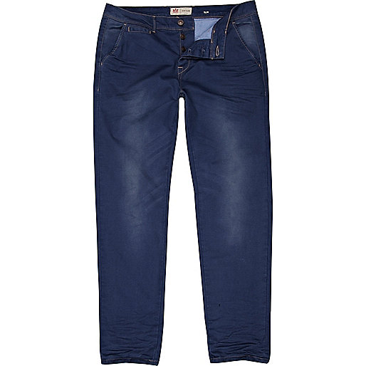 Blue slim trousers