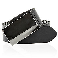 Black ridge plate belt