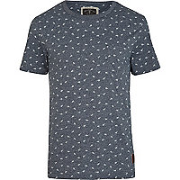 Blue Holloway Road scissor print t-shirt