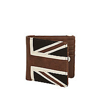 Black union jack print wallet