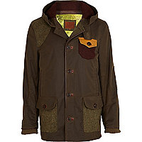 Khaki wax Holloway Road coat