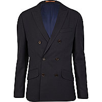 Navy Life Of Tailor double breasted jacket