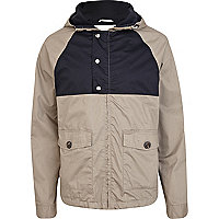 Light brown casual hooded jacket