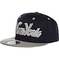 Navy New York snapback cap