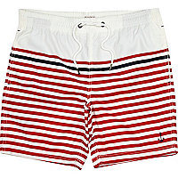 Red bretton stripe swimshort