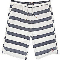 Grey stripe swim shorts