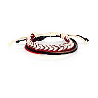Red and white woven wrist pack