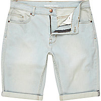 Light blue wash shorts