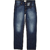 Mid wash Dean straight jeans