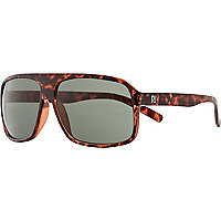 Brown print aviator sunglasses