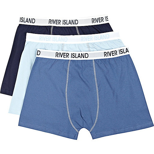 Navy RI print boxer shorts pack