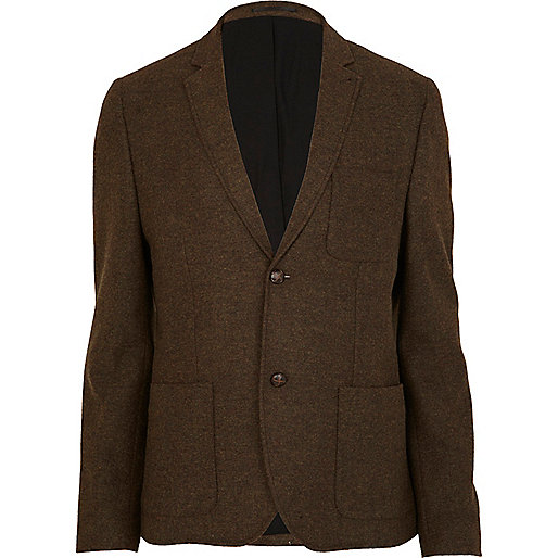 Brown smart wool blazer