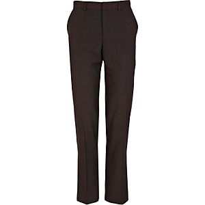 Berry red smart slim trousers