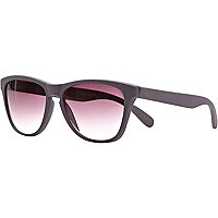 Grey matt retro sunglasses
