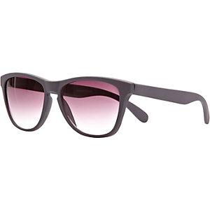 Grey matt retro sunglasses