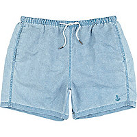 Blue wash swim shorts