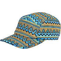 Blue aztec print hat