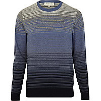 Navy gradient stripe jumper
