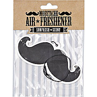 Black moustache air freshener