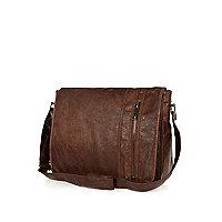 Light brown flap over bag
