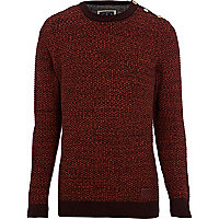 Orange Holloway Road waffle knit jumper
