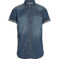 Blue denim wash ranger shirt