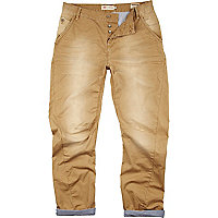 Brown distressed carpenter chinos