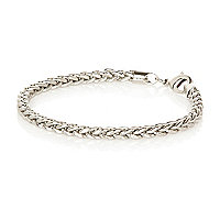 Grey metal weave wrist chain