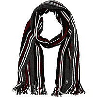 Burgundy stripe scarf