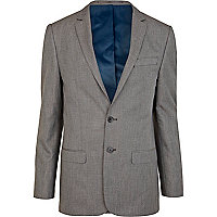 Grey single breasted skinny suit jacket