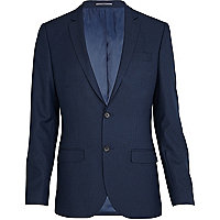 Blue slim suit jacket