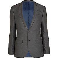 Mid grey slim suit jacket