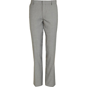Grey slim suit pants