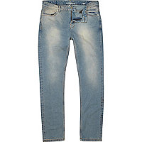 Blue light denim wash stretch skinny Sid jean