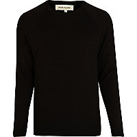 Black elbow patch detail jumper