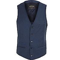 Blue smart Fisher waistcoat