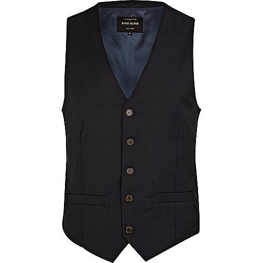 Navy smart waistcoat